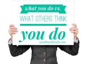 What You Do vs. What Others Think You Do